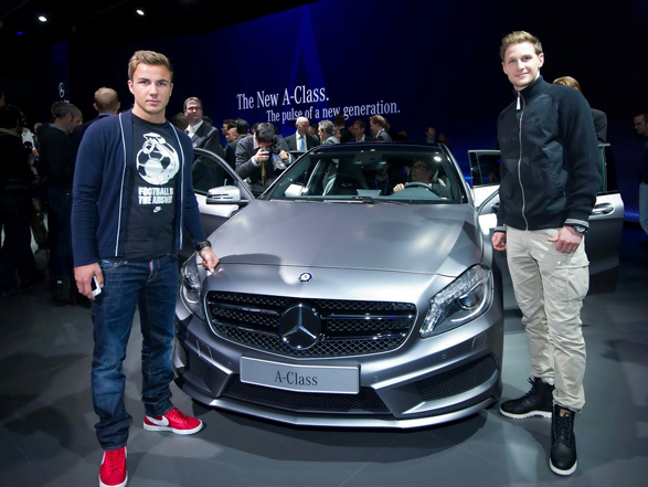 photo of Mario Götze Mercedes Class A - car