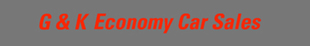 G&K Economy Car Sales logo